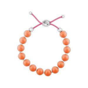 Swarovski Coral Pearl Charm Bracelet